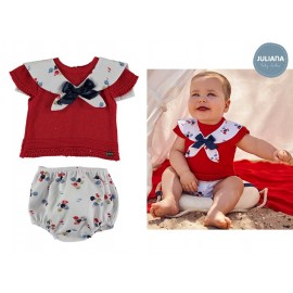 Juliana Summer Baby Boy Set Red and Fishes