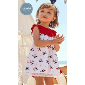 Juliana Summer Baby Girl Dress Fishes