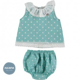 Juliana Summer Baby Girl Set Green