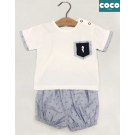 Coco Acqua Summer Baby Boy Set White with Anchors