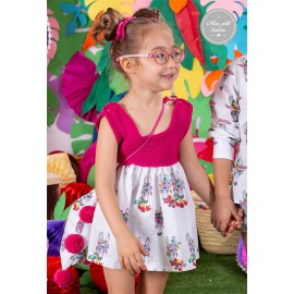 Mon Petit Bonbon Summer Baby Girl Dress Donkeys