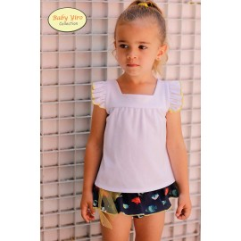Baby Yiro Summer Girl Set White with Fishes