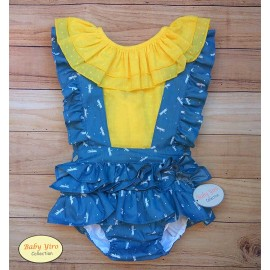 Baby Yiro Summer Girl Set Yellow Dragon Flies