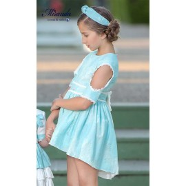 Miranda Summer Girl Dress Turquoise with Taile
