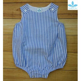Sardon Summer Baby Romper Blue Stripes