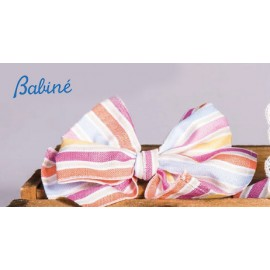 Babiné Summer Girl Pin with Colourful Stripes Tie