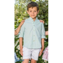Babiné Summer Boy Set Green Squares and White
