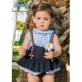 Babiné Summer Baby Girl Set Romper Nautical Navy
