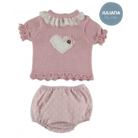 Juliana Summer Baby Girl Set Pink with Core