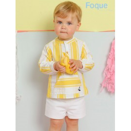 Foque Summer Boy Set Yellow and White