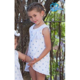DBB Collection Summer Girl White Dress Blue Spots