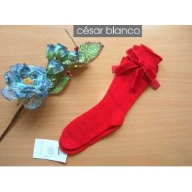 Cesar Blanco Winter Girl Red Socks