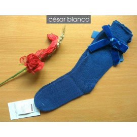 Cesar Blanco Winter Girl Blue Socks