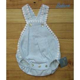 Babiné Summer Baby Boy Romper Blue Stripes