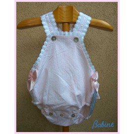 Babiné Summer Baby Girl Romper Pink Stripes