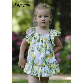 Lapeppa Summer Girl Dress Yellow Flowers