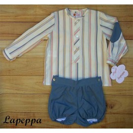 Lapeppa Summer Baby Boy Set Stripes