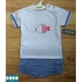 Coco Acqua Summer Baby Boy Set Fish
