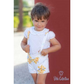 DBB Collection Summer Baby Boy Set White and Flowers