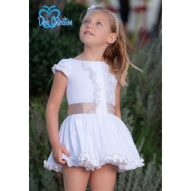 DBB Collection Summer Girl Dress White