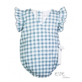 Eve Children Summer Baby Girl Romper Dolphi Squares