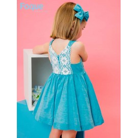 Foque Summer Girl Dress Turquoise