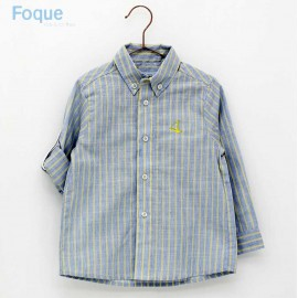Foque Summer Boy Shirt Yellow and Blue Stripes