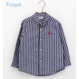 Foque Summer Boy Shirt Navy and White Stripes