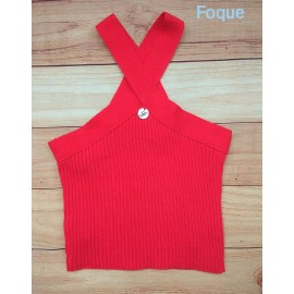 Foque Summer Girl Top Red