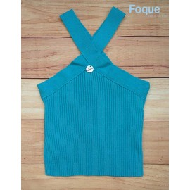 Foque Summer Girl Top Turquoise