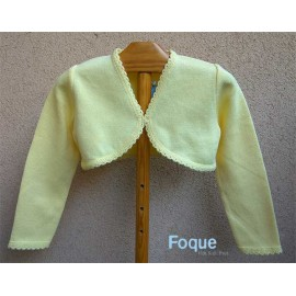 Foque Summer Girl Short Jacket Yellow