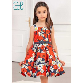 Abel & Lula Winter Girl Dress Daisies