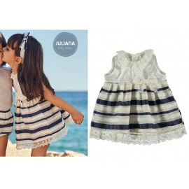 Juliana Summer Baby Girl Dress Stripes Ceremony