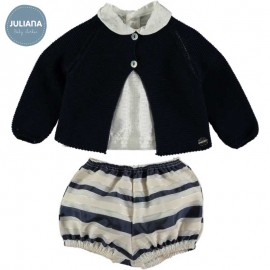 Juliana Summer Baby Boy Set Stripes Ceremony