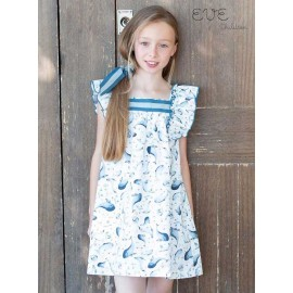 Eve Children Summer Girl Dress Dolphi