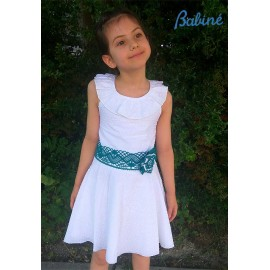 Babiné Summer Girl Dress White Waist