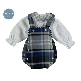 Juliana Winter Baby Boy Set with Squared Romper