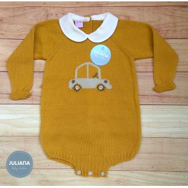Juliana Winter Baby Boy Romper Car Golden