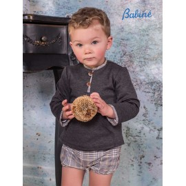 Babine Winter Baby Boy Set Gray and Squares