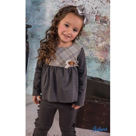 Babine Winter Girl Set Gray and Squares