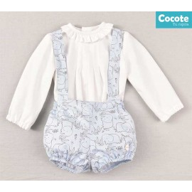 Cocote Winter Baby Boy Set Elephants