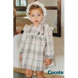 Cocote Winter Baby Girl Dress Squares