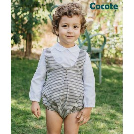 Cocote Winter Baby Boy Set White Shirt with Romper