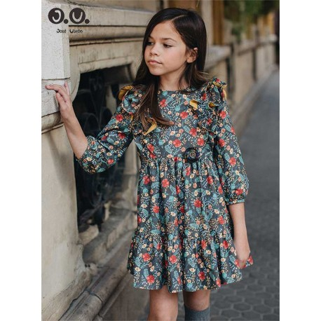 Jose Varon Winter Girl Dress Flowers