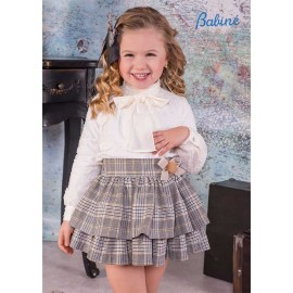 Babine Winter Girl Set Beige and Squared Skirt