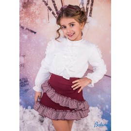 Babine Winter Girl Set White and Wine