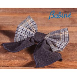 Babiné Winter Girl Pin Gray and Squared Tie