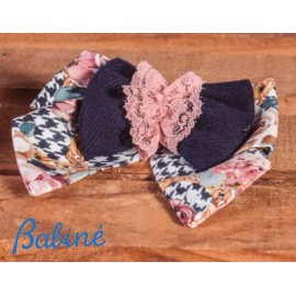 Babiné Winter Girl Pin with Ties and Pink Lace
