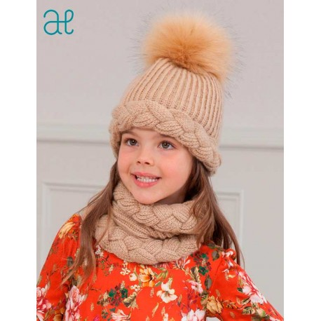 Abel & Lula Winter Girl Camel Hat Scarf Gloves