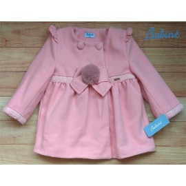 Babine Winter Girl Pink Coat with Pompom